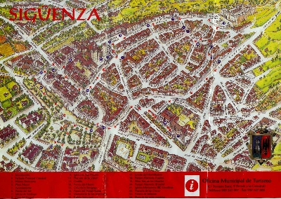 Siguenza Tourism Map